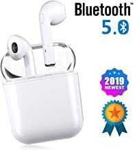 Bluetooth Earbuds, White Wireless Earbuds in-Ear Headphones Hands Free Noise Cancelling Headset Compatible with iPhone XR X 8 8plus 7 7Plus 6 6plus Samsung Galaxy S9 S8 Huawei & Other Apple Airpods