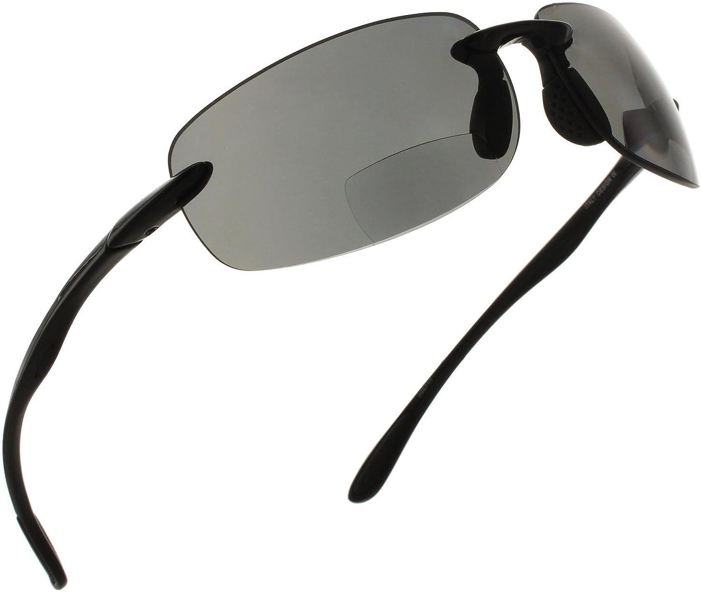 Fiore Island Sol Bifocal Sunglasses Reading TR90 Rimless Gla Easy-to-use Special sale item Sun