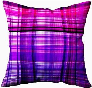 Ducan Lincoln Pillow Case 2PC 18X18,Fundas De Almohada,Fundas De Cojín Violeta Rosa Rojo Blanco Negro Cuadros Fondo Fantástico Funda De Almohada Suave,Fundas De Almohada De Navidad,Blanco Verde