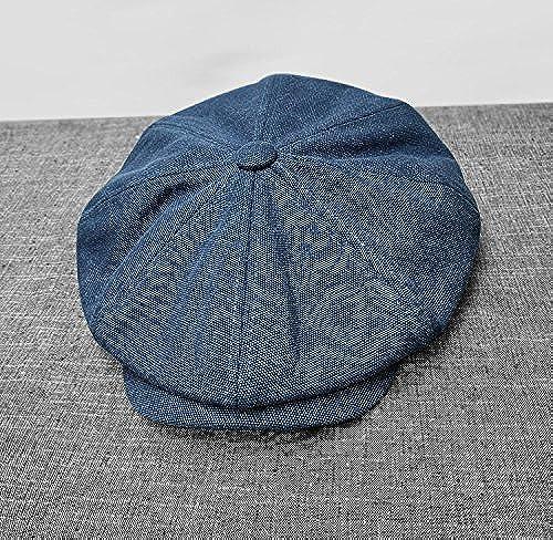 bienvenido a orden GUYOULY GUYOULY GUYOULY Sombrero de Lienzo de algodón Gorro Ancho Gorra de Hombre Grande Octogonal Sombrero de Vendedor de periódicos  tienda en linea