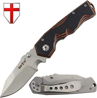 Grand Way Tactical Folding Knife - Folding Knife - EDC and Outdoor Classic Pocket Knives Stainless Steel Blade G-10 Handle Metal Clip - Best Urban Tourist Fold Knife for Travel and Hiking 01137