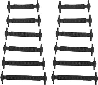 Conjunto de 12 piezas de cordones de silicona elástica para zapatillas para niños