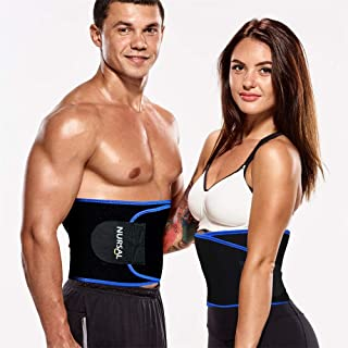 Sweat Waist Trimmer Belt, Adjustable Waist Trainer for Weight Loss, Burn Calories~ Slimmer Kit, Sweat Wrap, Stomach Slimmer, Low Back and Lumbar Support, Best Abdominal Trainer for Man and Women