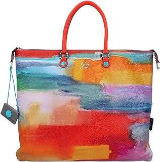 GABS G000036T3 G3 Super 489 Abstrakt L verwandelbare Tasche für Damen aus Leder bedruckt 489