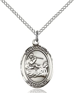 Sterling Silver Catholic Patron Saint Medal Pendant, 3/4 Inch