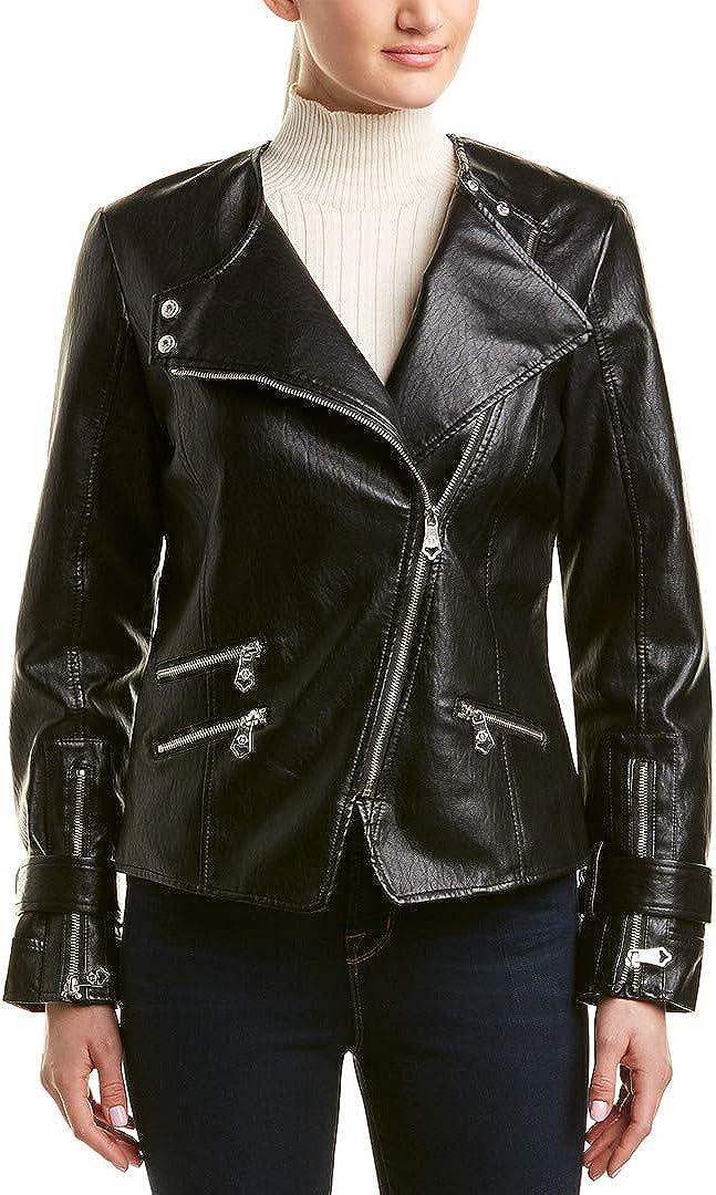 Nanette Lepore Women's Vegan Leather Biker Jacket