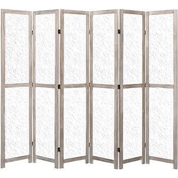 Festnight Biombo con 6 Paneles Plegables de Madera Blanco 210 x 165 cm, Divisor de Habitaciones, Biombo Separador: Amazon.es: Hogar