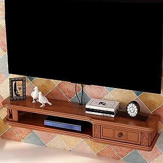 FHKBB Étagère Flottante Étagère Murale Flottante Meuble TV Meuble TV Set Top Box Étagère Console TV Unité de Rangement Org...