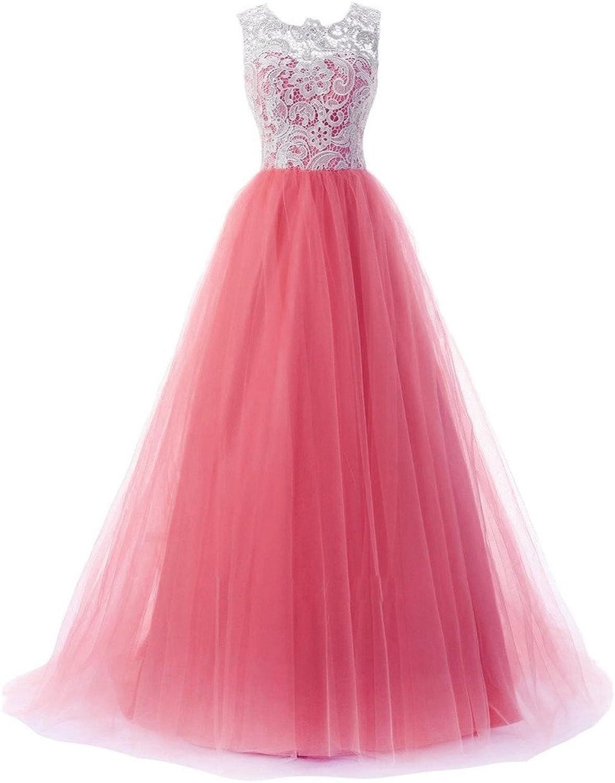 NOVIA Women's Off Shoulder Long Lace Organza Ball Gowns Prom Evening Dresses