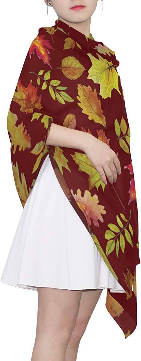Autumn Maple Leaves And Other Leaves Unique Fashion Scarf For Women Lightweight Fashion Fall Winter Print Scarves Shawl Wraps Gifts For Early Spring