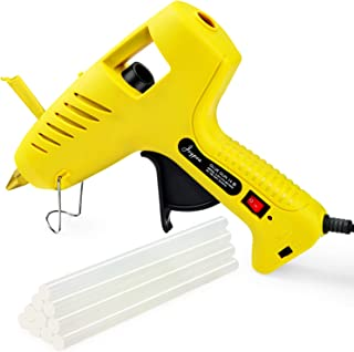 Joypea Hot Glue Gun with LED Light,60/100W Full Size Dual Power High Temp Heavy Duty Melt Glue Gun Kit,Including 10pcs Glue Sticks for DIY, Decoration, Crafts, Household