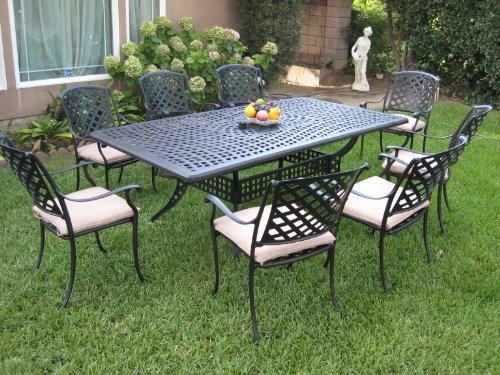 Dining Set Outdoor Cast Aluminum Patio Furniture 9 Piece ML8444RT CBM1290