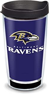 Tervis NFL Baltimore Ravens - Touchdown Insulated Tumbler with Wrap and Black Travel Lid, 16 oz - Tritan, Clear