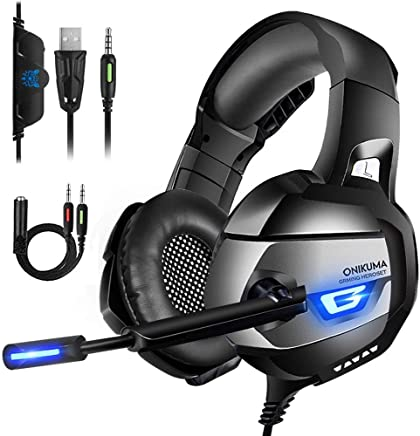 Cuffie Gaming per PS4, Xbox One, Nintendo Switch, PC, Laptop, Cuffie Stereo 7.1 Audio Surround, Cuffie con Microfono a Cancellazione di Rumore, Padiglione Memoria Morbido, Luce LED - Trova i prezzi più bassi