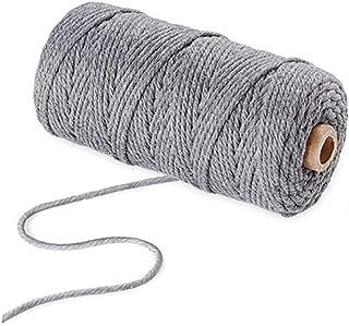 WYSUMMER Corde en Macramé Corde de CotonNaturel pour Tricotage pour Hanging Plant DIY Décoration, Emballage Cadeau, Artisa...