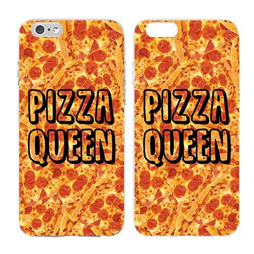 Compatible for iPhone 6/6S - Cream Cookies - Ultra Slim Hard Plastic Cover Case - Pizza Queen - Pizza - Cute - Quote - Pizza Quotes - Sassy - Cute - Pizza Background