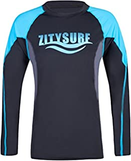 ZITY Women Rash Guard Long Sleeve UV Protection Swimwear Print Athletic Surfing Top
