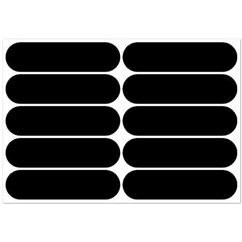 B REFLECTIVE, Kit 10 Autocollants rétro réfléchissants, Visibilité de Nuit, Adhésif Universel, Stickers pour vélo/Poussette/Casque/Moto/Jouets, Bandes 7 x 1,8 cm, Noir