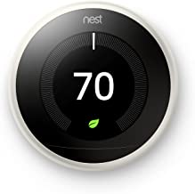 Nest T3017US Learning Thermostat, Easy Temperature Control for Every Room in Your House, White (Third Generation), Compatible with Alexa Small
