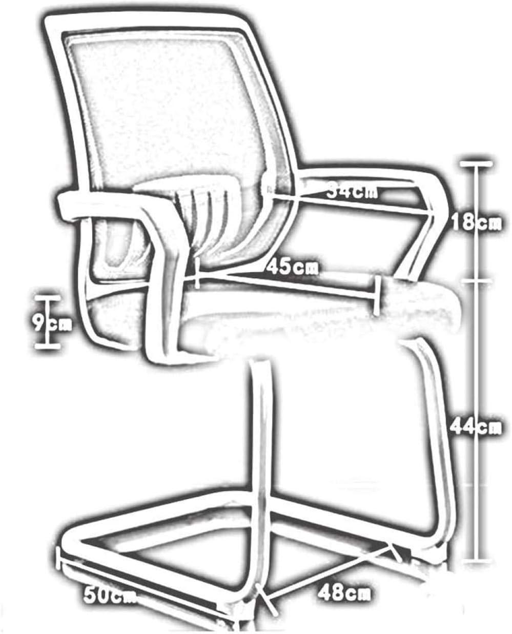 Chaise De Bureau Chaises De Loisirs Chaise d'arc Familiale Chaise De Conférence Chaise De Personnel Chaise D'Étudiant Dossier Respirant en Maille - Bleu Bleu