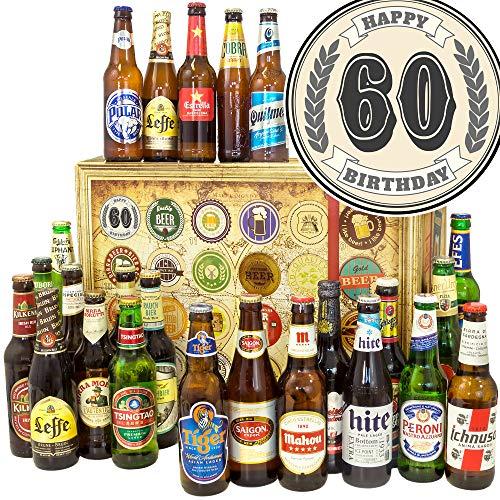 60. Geburtstag - 24 Weltbiere - Geschenke 60. Geburtstag - Bier Adventskalender 2019