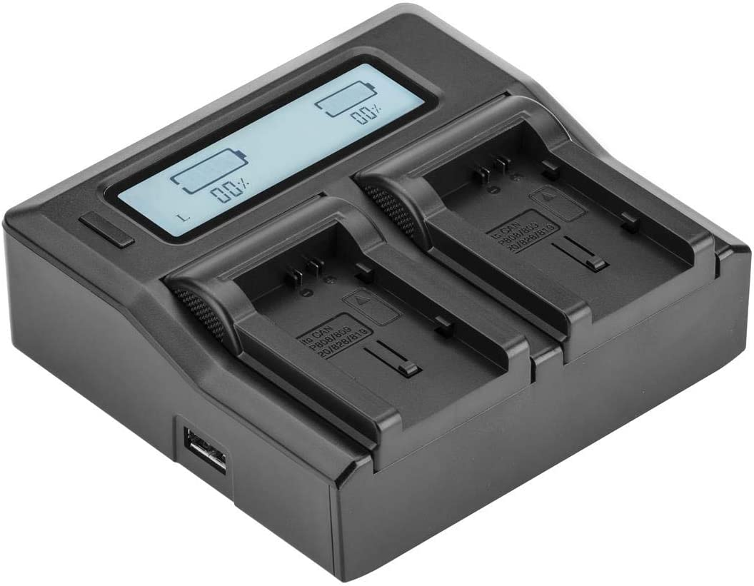 Cash special price Green Extreme Dual Smart Charger with BP-80 for Selling rankings Canon Screen LCD