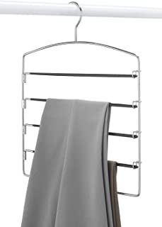 Blumfye Stainless Steel 5 Tier Pant Hanger For Wardrobes (Black)