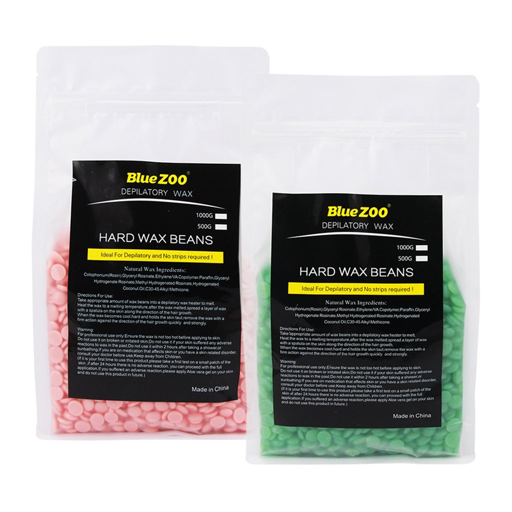 Baosity 2 X 500g Easy At the price of surprise Hair Removal Hard Wax Beans Max 78% OFF Full Depi Body