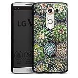 Coque Compatible avec LG V10 Étui Housse Design Abstrait Cactus