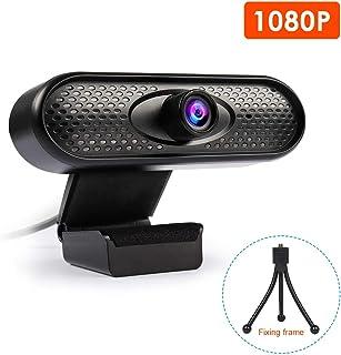 MASCARELLO Webcam Ultra HD 1080P USB Webcam con micrófono reducción de ruido para cursos en línea clases de e-learning transmisión en vivo compatible con TV negro SX-CTBZY