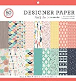 Colorbok Designer Paper Pad, 12' x 12', Wild & Free