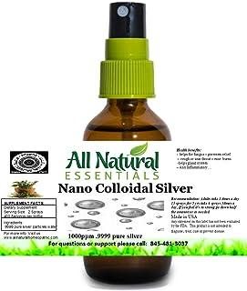 Sponsored Ad - Colloidal Silver Solution mineral supplement 2oz Bottle 1000ppm Nano colloidal Liquid silver immune booster...