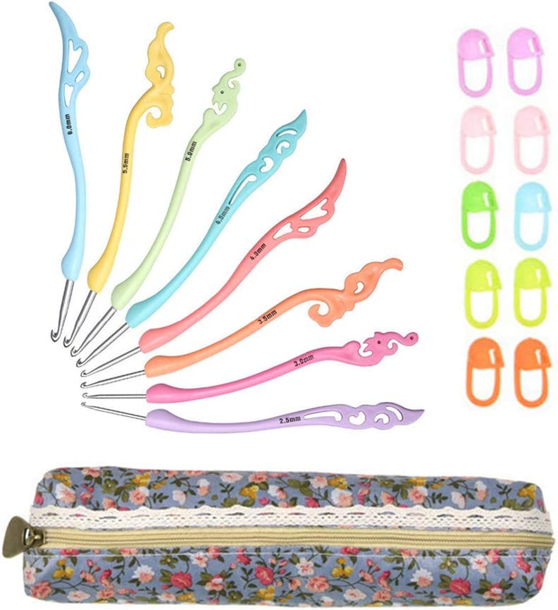 Katech Crochet Hooks Recommended Kit 19 Large-scale sale Differe Knitting Pieces Accessories