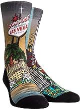 Rock 'Em Las Vegas City Series Socks (L/XL, Las Vegas Landmark Collage)