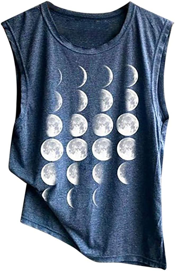 naioewe Women Tank Tops, Tank Tops for Women Crop Top Printed Shirts Sleeveless Workout Blouse Loose Camisoles Tee Tops