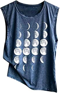 Comfortable Sport Vest Tank Top Yoga Woman American Flag Print Tops Independence Day Racerback Sleeveless Toponly