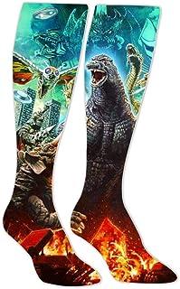 Godzilla Poster 3D Printed Athletic Socks Knee High Socks For Men&Women Sport Long Sock Tube Long Stockings Christmas socks