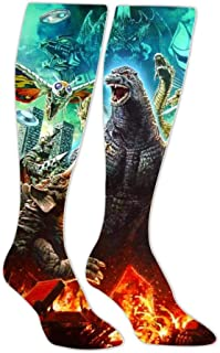 Godzilla Poster 3D Printed Athletic Socks Knee High Socks For Men&Women Sport Long Sock Tube Long Stockings Christmas socks