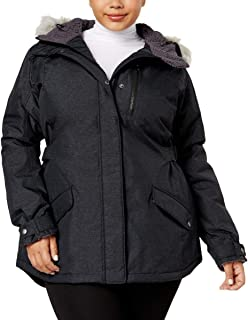 Columbia Women's Plus Faux Fur Trim Cold Weather Penns Creek Jacket: Black (1X)