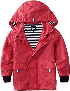 Boys Girls Waterproof Hooded Jackets Cotton Lined Rain Jackets