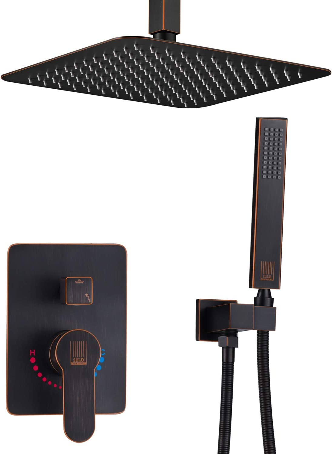 SDLO US oil rubbed bronze shower mount Price reduction inch 10 Super popular specialty store ceiling ra system