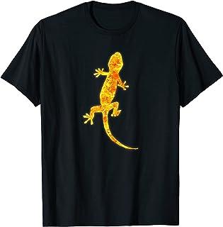 reptile lézard Gecko feu Burning Flames T-Shirt
