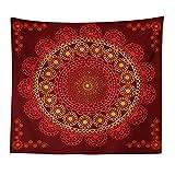 GenericBrands Tapiz Tapiz de Pared Pavo Real Mandala Floral Hippie Indio Decoración del hogar para Dormitorio Sala de Estar Tapiz para habitación