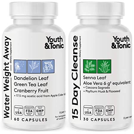 Thin Waistline & Slender Body   Fast Waste Loss & Water Retention Weight Away for Belly Bloating   Natural Diuretic & Laxative Colon Cleanser Pills   Detox Cleanse for Energy or to Break The Plateau