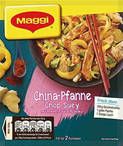 Maggi fix & frisch, China-Pfanne Chop Suey, 34 g Beutel, ergibt 2 Portionen,18er Pack (18 x 34g)