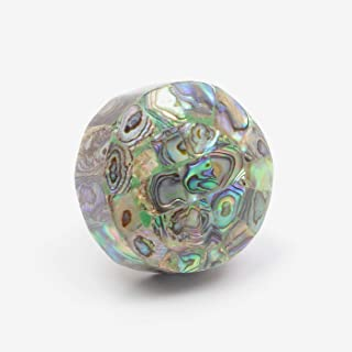 Peacock Mother of Pearl Knob, Pull, Handle, for Cupboards, Doors, Cabinets, Drawers, Furniture & Kitchens (Includes Hardware) 3.9 cm Diameter 3.4 cm Rod Length