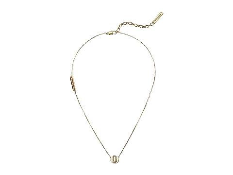 Marc Jacobs Double J Pendant Necklace