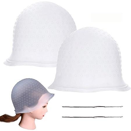 Paquete de 2 tapas de resaltado para el cabello, con gancho de metal, herramienta para teñir el cabello, para mujeres y niñas