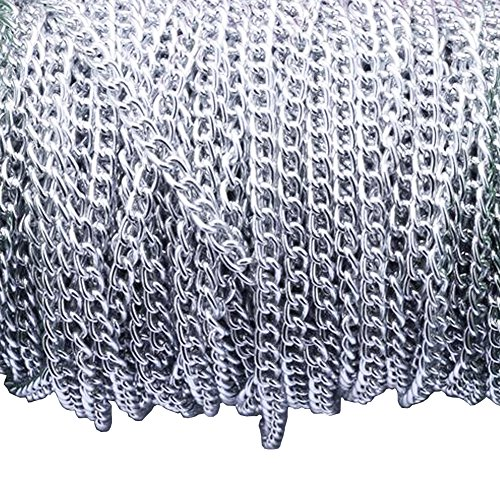 Aluminum Curb Chain Link in Bulk for Necklace Jewelry Accessories DIY Making 11 Yards 4.5mm Width