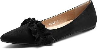 Mila Lady Celine Crease Pointed Toe Comfort Slip On Ballet Dress Flats Shoes for Women